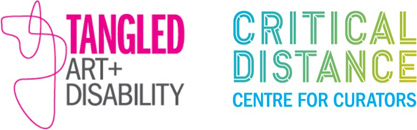 Tangled Art + Disability & Critical Distance Centre for Curators logos